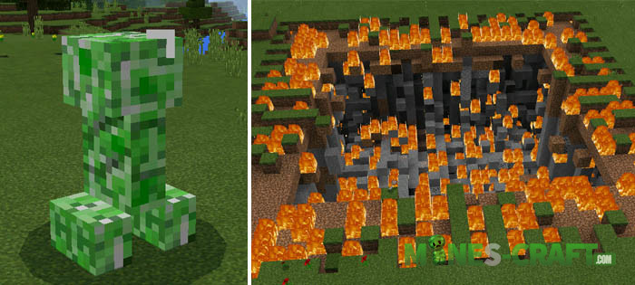 Plus Explosion Mod [Minecraft PE 0.16.0]