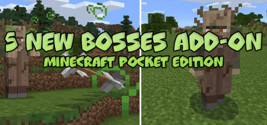 5 New Bosses Add-on [Minecraft PE 0.17.0]