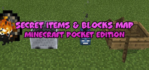Secret Items & Blocks Map [Minecraft PE 0.17.0]