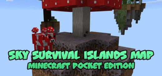Sky Survival Islands Map [MCPE 1.0.4.1]
