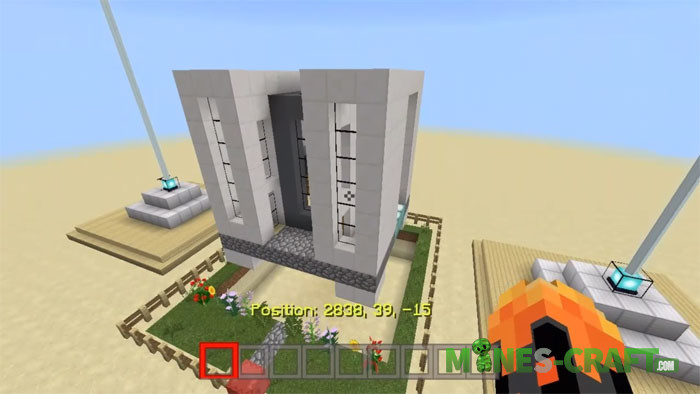 Flying House Minecraft PE