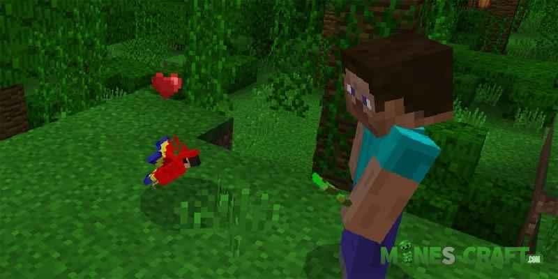 Minecraft PE 1.2 - parrots