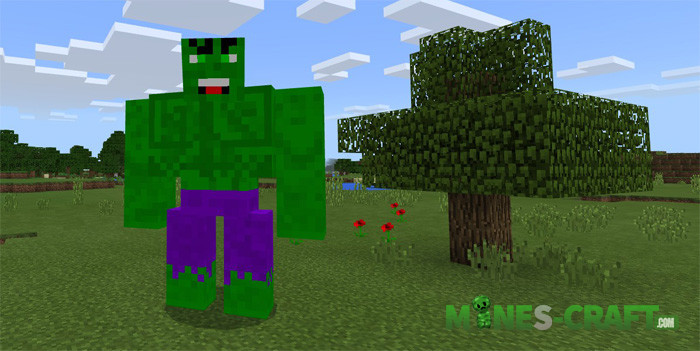 Comic characters addon Minecraft PE