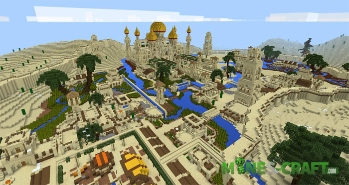 Arabian Desert City Minecraft Pe 1 2 Mines Craft Com
