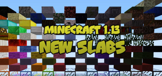 Minecraft 1.13 - New Slabs