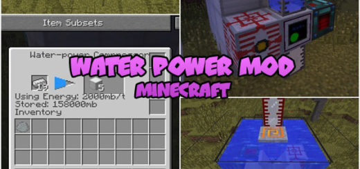 Water Power Mod Minecraft