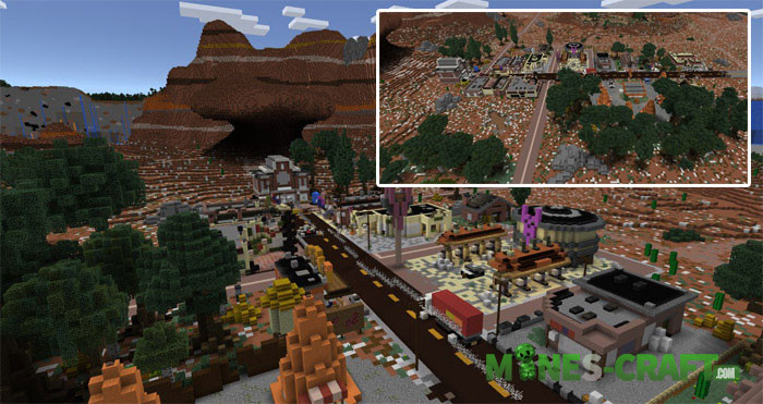 Radiator Springs Map MCPE