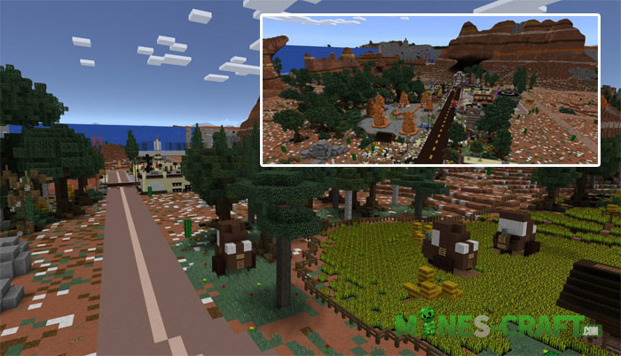 Radiator Springs Map Minecraft