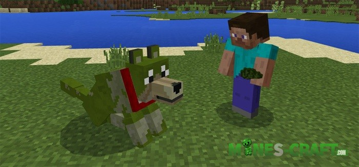Colorful Wolves Add-on MCPE 1.2
