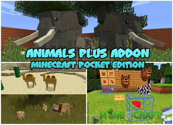 Animals Plus Addon v1 2 [Minecraft PE] | | Mines-Craft com