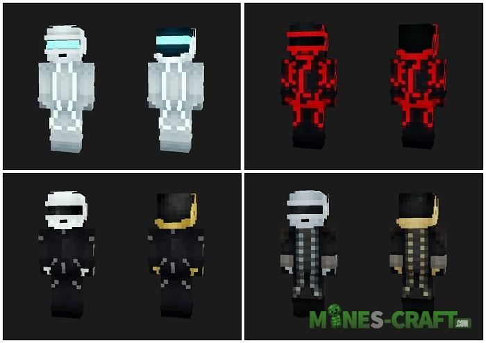 Daft Punk Skin Pack MCPE