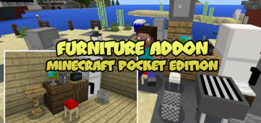 Minecraft PE Furniture Addon