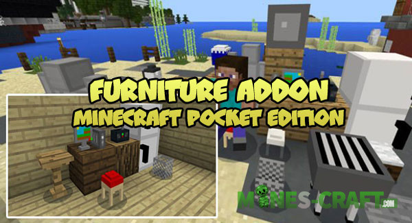 Minecraft PE Furniture Addon | | Mines-Craft com