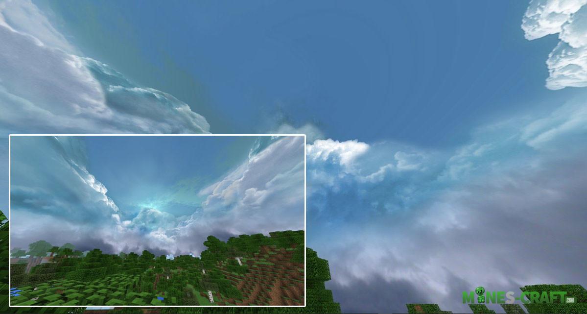 Cloudy Skybox Minecraft PE