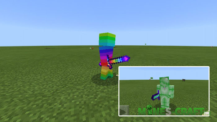 Colored Steves Addon MCPE