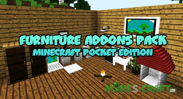 Furniture Addons Pack for Minecraft Bedrock Mines Craft com