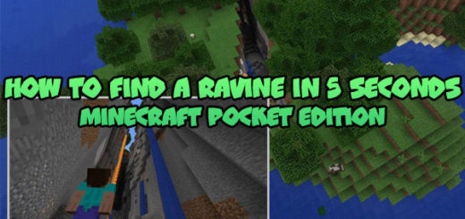 How to find a ravine in 5 seconds Minecraft PE
