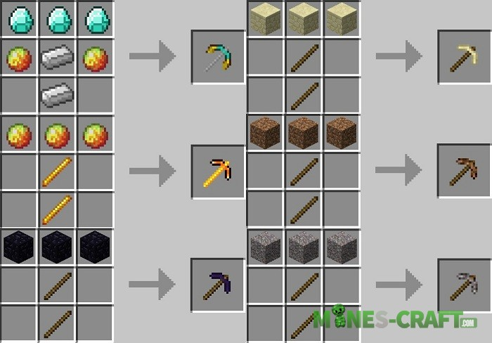 Mo' Pickaxes Mod Minecraft