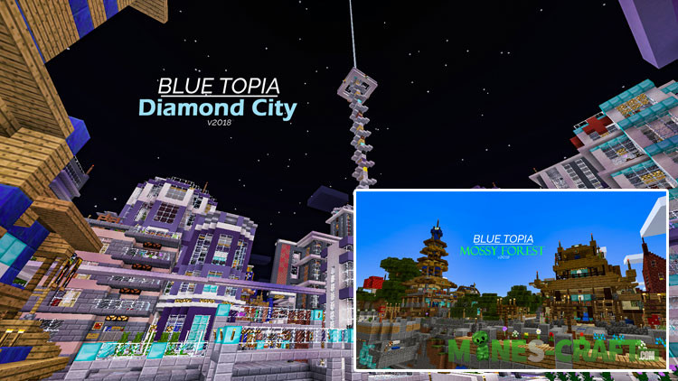 Blue Topia City Minecraft PE