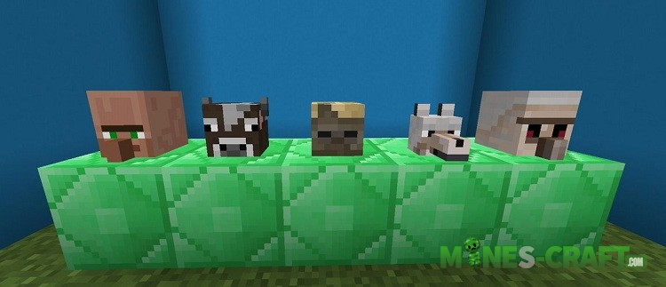 New Mob Heads Addon MCPE