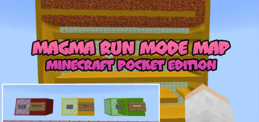 Magma Run Mode Map MCPE