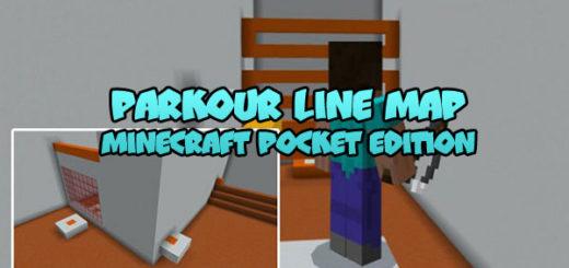 Parkour Line Map MCPE