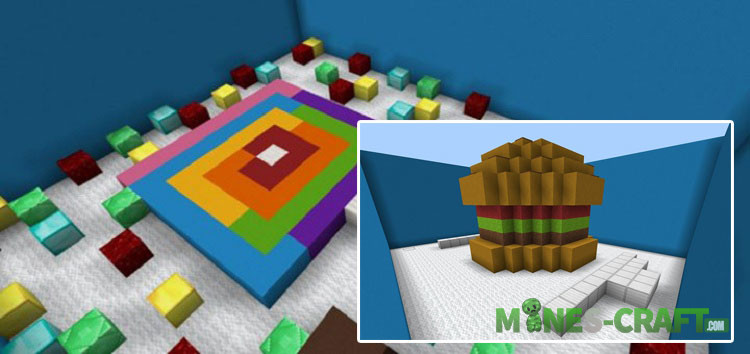 Food Find The Button Map MCPE