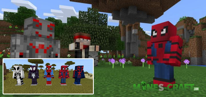 SpiderMan Addon MCPE