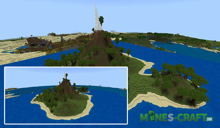 Custom SG Island Map for MCBE