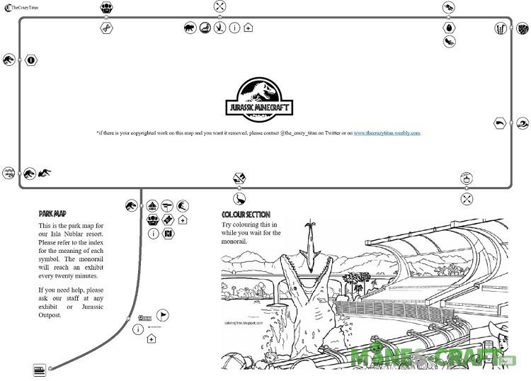 Jurassic Park Map for MCBE