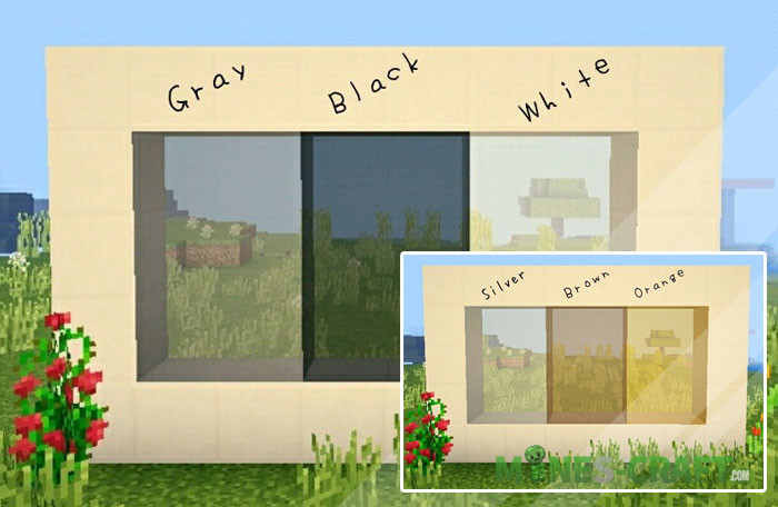 Modern Glass Textures + Shader MCPE 1.5