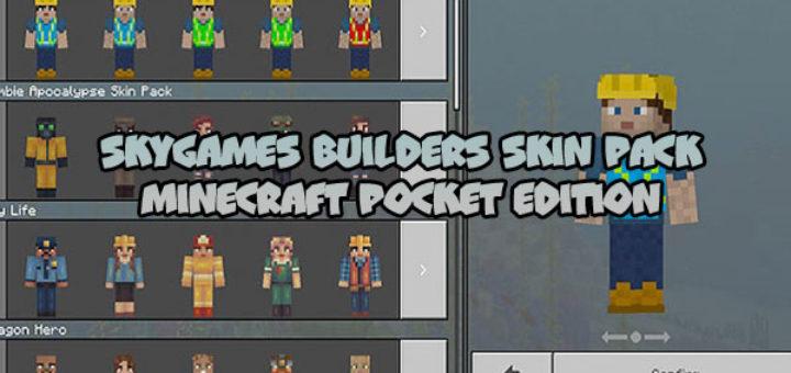 SkyGames Builders Skin Pack [MCPE]
