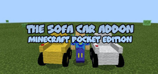 The Sofa Car Addon for MCPE
