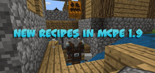 New Recipes and Who are Illagers in MCPE 1.9