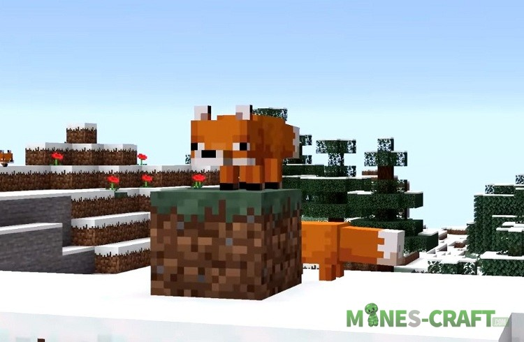 Foxes in Minecraft 1.14