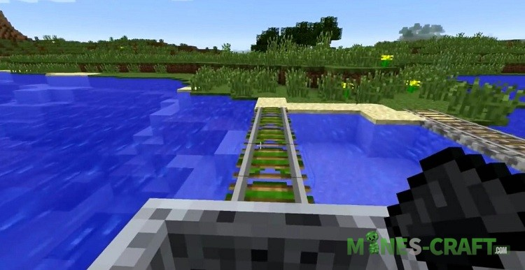 Floating Rails Mod for Minecraft